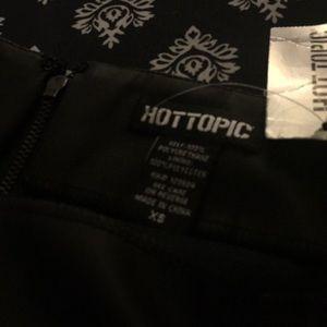 Skirts - NWT Hot Topic Black mini faux leather skirt